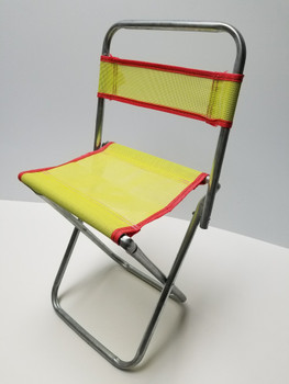18 inch Yellow Portable Mini Folding Camp Chair, Canvass BBQ Seat