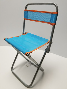 18 inch blue Portable Mini Folding Camp Chair, Canvass BBQ Seat