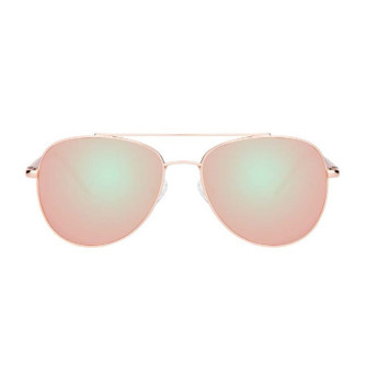 BELLE, Rose Gold With Pink Mirrored Lens, High Fashion Italian Sunglasses