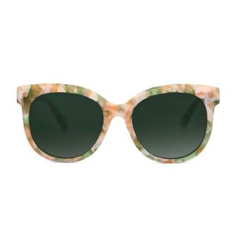 BORO, Matcha Dogwood With Polarized Green, High Fashion Italian Sunglasses