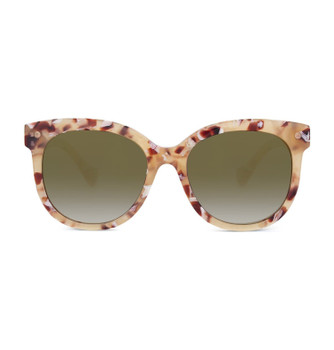 BROWN, Marchpane Tortoise With Polarized Gradient Gold Mirror, Sunglasses