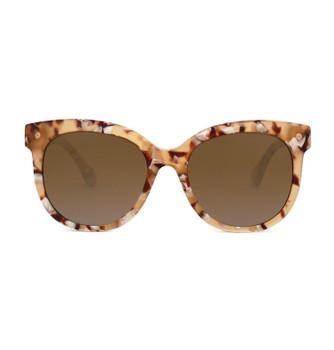 BROWN, Marchpane Tortoise With Polarized Amber, High Fashion Italian Sunglasses