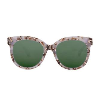 BRUM, Granny Chic With Green, High Fashion Italian Sunglasses