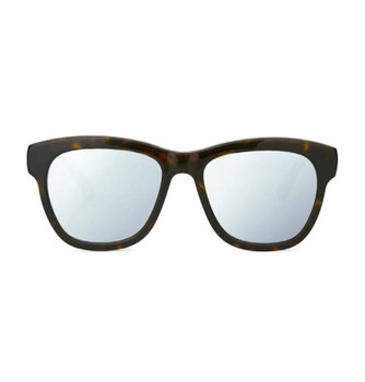 PITT, Tortoise Shell With White Silver Mirror, High Fashion Italian Sunglasses