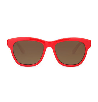 PROVO, Scarlet With Polarized Amber, High Fashion Italian Sunglasses