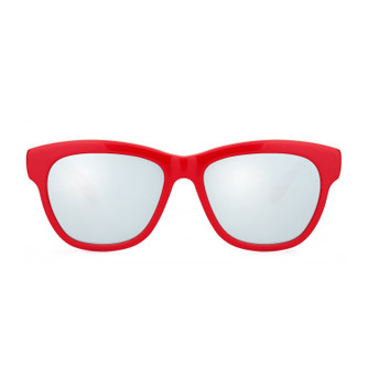 PROVO, Scarlet With White Silver Mirror, High Fashion Italian Sunglasses