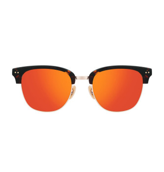 RENCE, Lively Tortoise With Orange Red Gold Mirror, High Fashion  Sunglasses