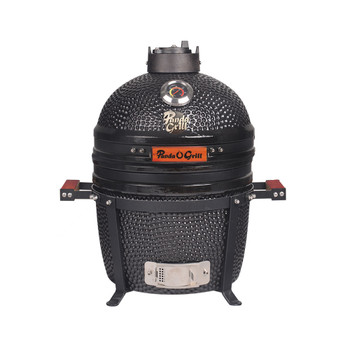 16 inch Mini Ceramic Kamado Panda Grill Black