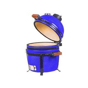 16 inch Mini Ceramic Kamado Panda Grill Blue