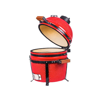 16 inch Mini Ceramic Kamado Panda Grill Red