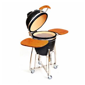 18 inch Ceramic Kamado Panda Grill Black