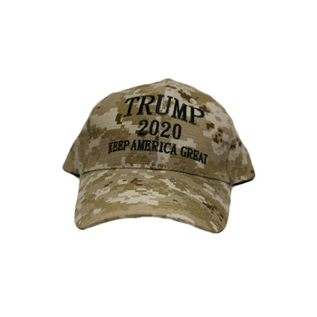 Keep America Great Trump 2020 Digital Brown Camo Hat