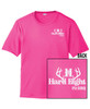 Sport-Tek White Logo T-shirt Pink