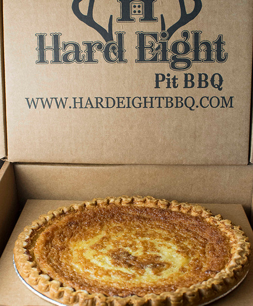 TX Whiskey Buttermilk Pie in our corrugated box.