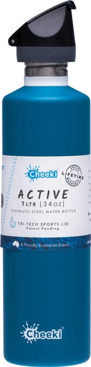 Cheeki Stainless Steel Bottle 1L Active Topaz