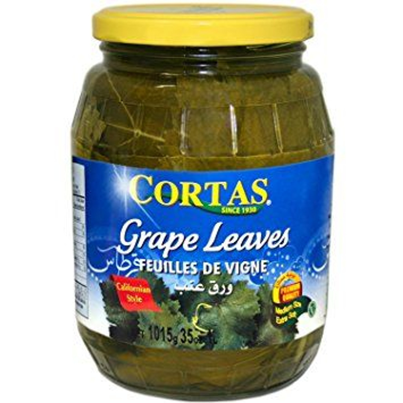 Cortas Vine Leaves In Brine 1015g Jar X 4 Fresco Wholefoods