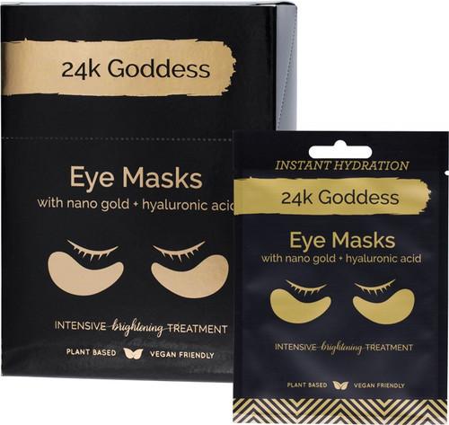 24K Goddess Active Gold Eye Mask Brightening 10 Pairs Single Use