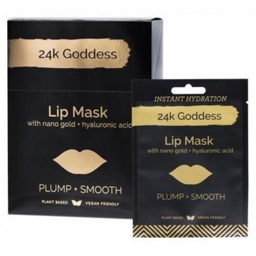 24K Goddess Active Gold Lip Mask Plump, Smooth 10 Pairs Single Use