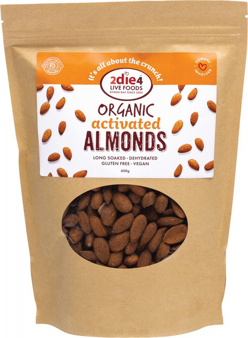 2Die4 Live Foods Organic Activated Almonds 600g