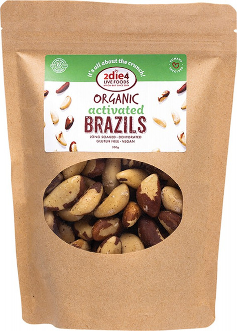 2Die4 Live Foods Organic Activated Brazil Nuts  300g