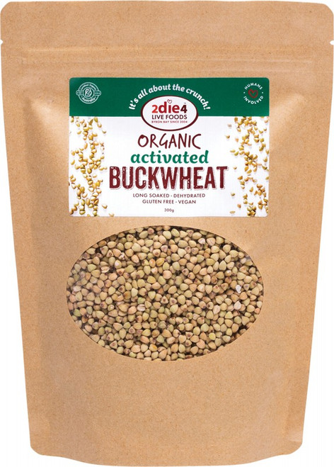 2Die4 Live Foods Organic Activated Buckwheat  300g