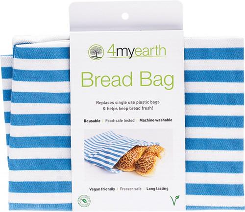 4Myearth Bread Bag Denim Stripe 30x40cm