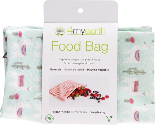 4Myearth Food Bag Llamas 25x20cm
