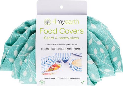 4Myearth Food Cover Set Leaf XS,S,M & L