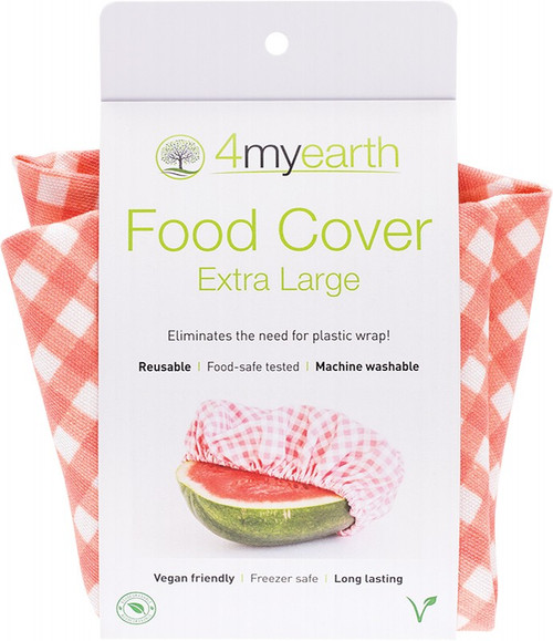 4Myearth Food Cover Red Gingham XL