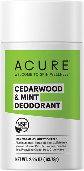 Acure Deodorant Stick Cedarwood & Mint 63g