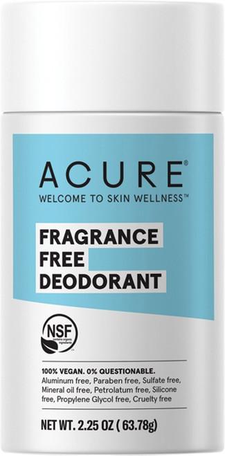 Acure Deodorant Stick Fragrance Free 63g