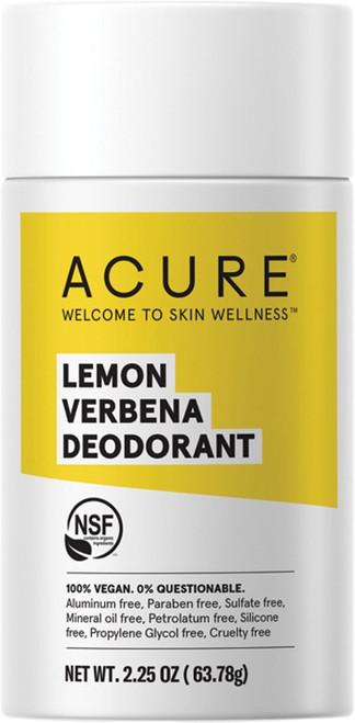 Acure Deodorant Stick Lemon Verbena 63g