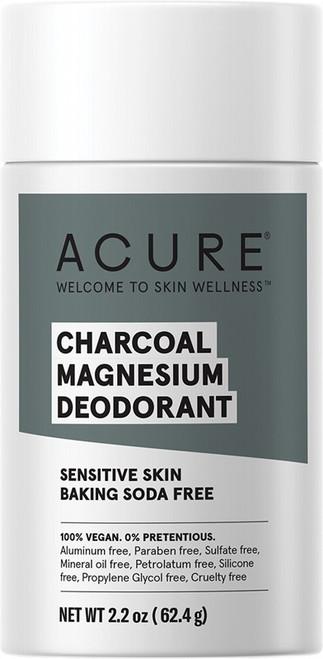 Acure Deodorant Stick Baking Soda Free Charcoal Magnesium 63g