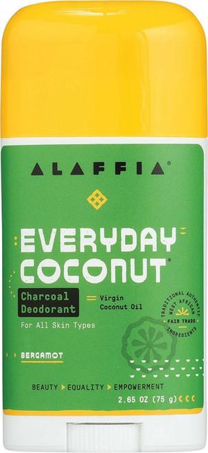 Alaffia Everyday Coconut Deodorant Charcoal & Bergamot 75g