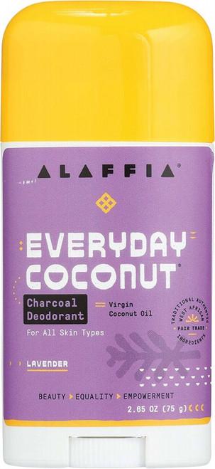 Alaffia Everyday Coconut Deodorant Charcoal & Lavender 75g
