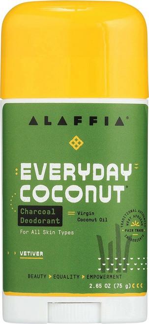 Alaffia Everyday Coconut Deodorant Charcoal & Vetiver 75g