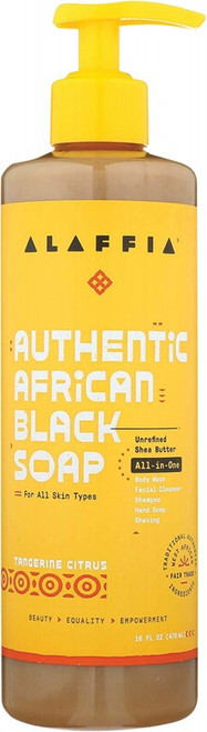 Alaffia African Black Soap All-In-One Tangerine-Citrus 476ml