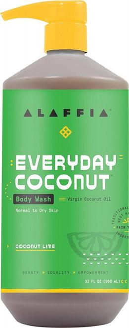 Alaffia Everyday Coconut Body Wash Coconut Lime 950ml