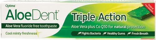 Aloe Dent Toothpaste Fluoride Free Triple Action 100ml