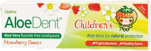 Aloe Dent Toothpaste Fluoride Free Strawberry (Children) 50ml