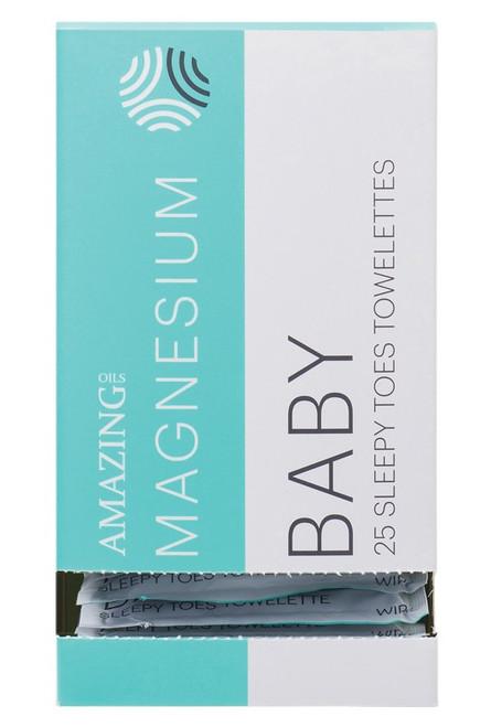 Amazing Oils Magnesium Wipes Baby Sleepy Toes Towelettes