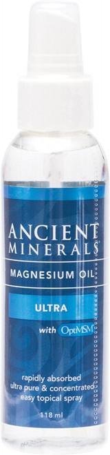 Ancient Minerals Magnesium Oil (50%) & Msm Ultra 118ml