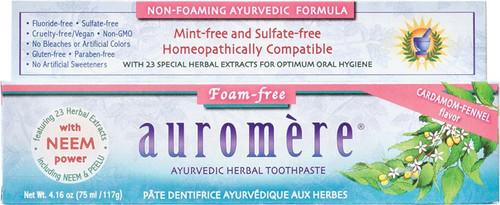 Auromere Toothpaste Ayurvedic Cardamom-Fennel Fluoride Free 117g