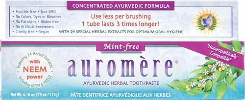 Auromere Toothpaste Ayurvedic Mint Free Fluoride Free 117g