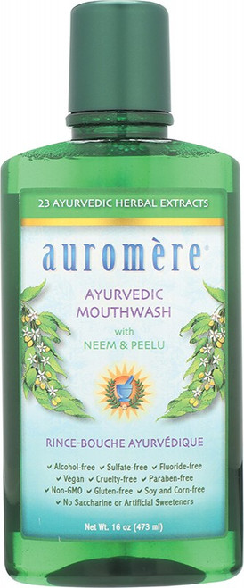 Auromere Mouthwash Ayurvedic Neem & Peelu 473ml