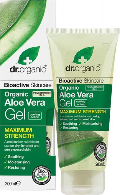Dr Organic Aloe Vera Gel Maximum Strength Organic Aloe Vera 200ml