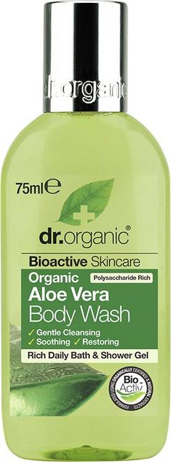 Dr Organic Body Wash (Mini) Organic Aloe Vera 75ml