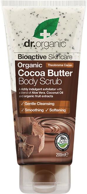 Dr Organic Body Scrub Organic Cocoa Butter 200ml