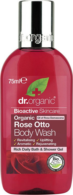 Dr Organic Body Wash (Mini) Organic Rose Otto 75ml