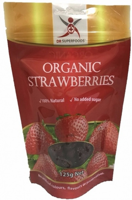 Dr Superfoods Dried Strawberries Organic 125g